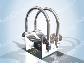 ОПХ2 - Опора подвижная хомутовая для трубопроводов  Дн 57-630мм