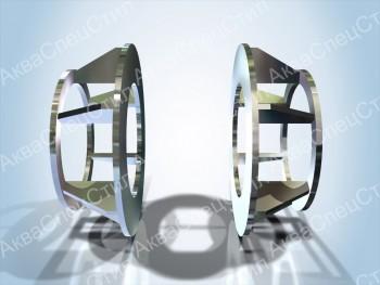 Т9 Опоры неподвижные щитовые усиленные Ду 426 – 1420 мм