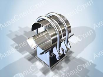 ОСТ 108.275.28-80 Опоры неподвижные двуххомутовые трубопроводов из коррозионно-стойкой стали аустенитного класса для АЭС