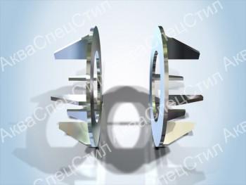 Т8 Опоры неподвижные щитовые  Ду 108 – 1420 мм